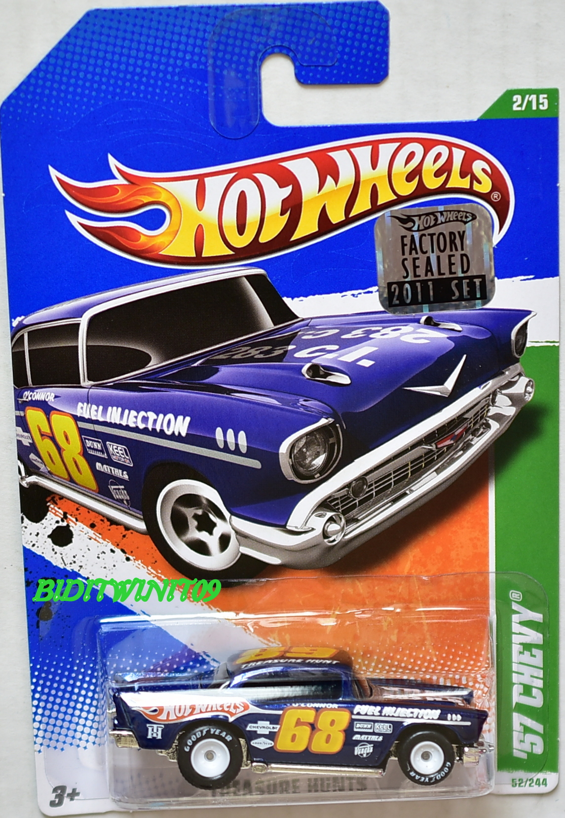 HOT WHEELS 2011 SUPER TREASURE HUNT '57 CHEVY FACTORY SEALED