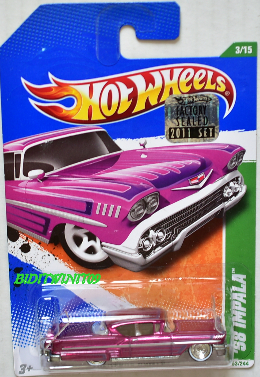 HOT WHEELS 2011 SUPER TREASURE HUNT '58 IMPALA FACTORY SEALED