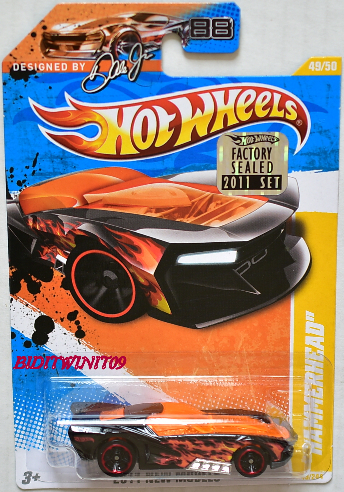 HOT WHEELS 2011 NEW MODELS HAMMERHEAD BLACK FACTORY SEALED
