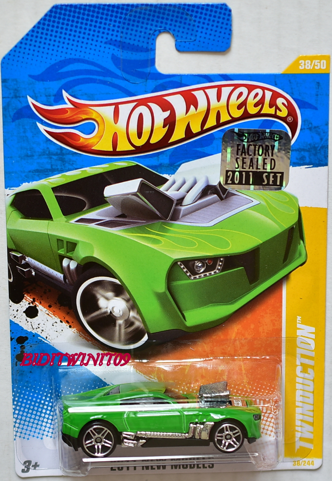 HOT WHEELS 2011 NEW MODELS TWINDUCTION GREEN FACTORY SEALED