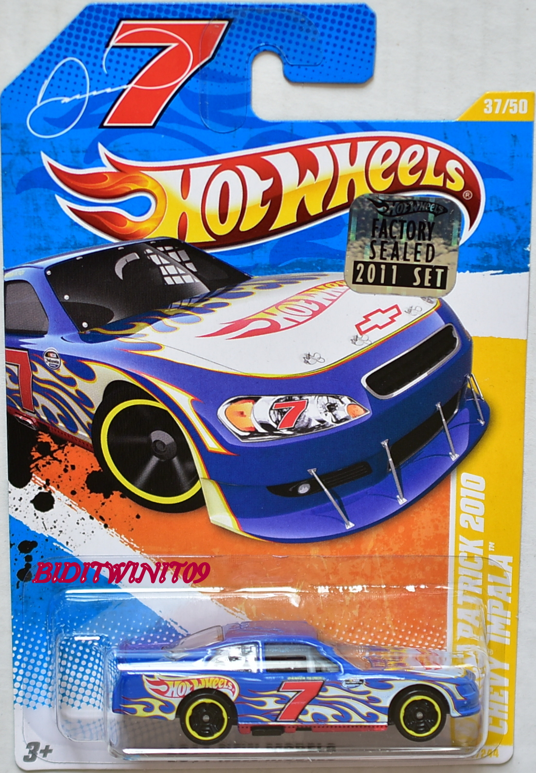 HOT WHEELS 2011 NEW MODELS DANICA PATRICK 2010 CHEVY IMPALA BLUE FACTORY SEALED