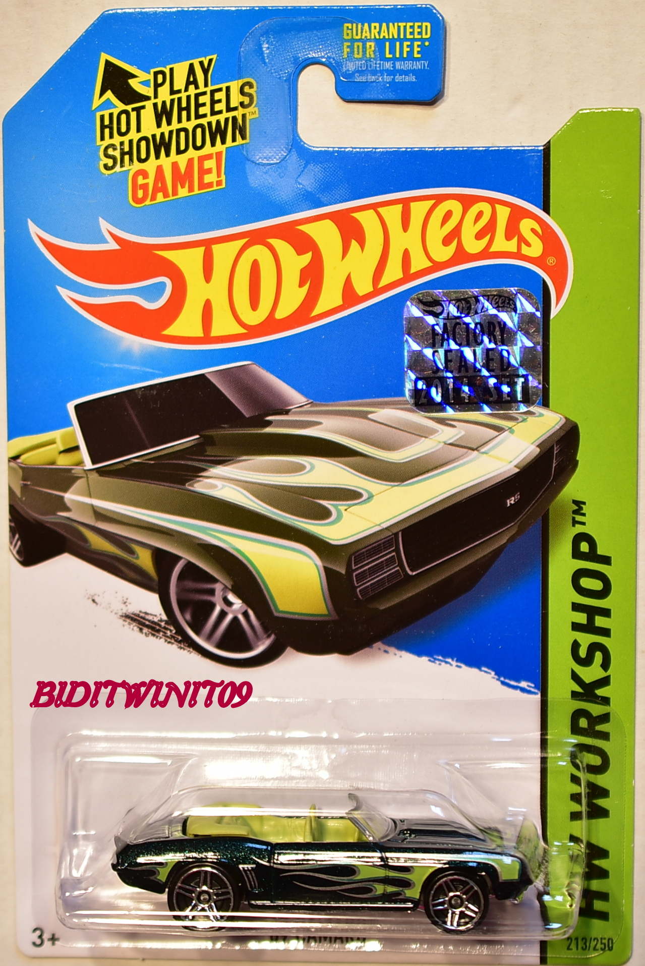 HOT WHEELS 2014 HW WORKSHOP HEAT FLEET '69 CAMARO GREEN FACTORY SEALED