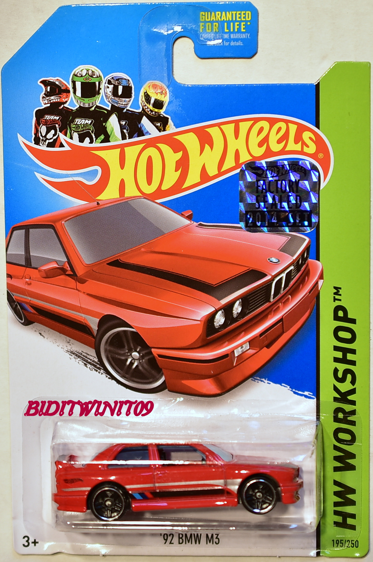 HOT WHEELS 2014 HW WORKSHOP '92 BMW M3 RED FACTORY SEALED