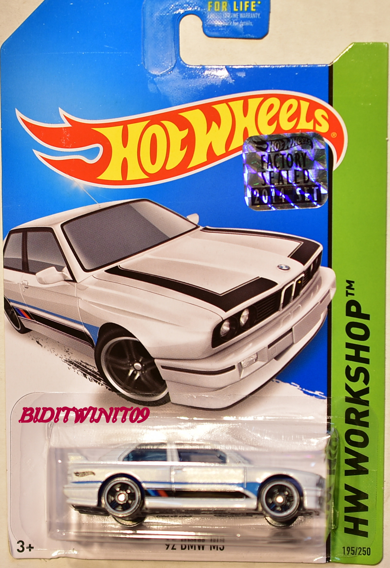 HOT WHEELS 2014 HW WORKSHOP '92 BMW M3 WHITE FACTORY SEALED