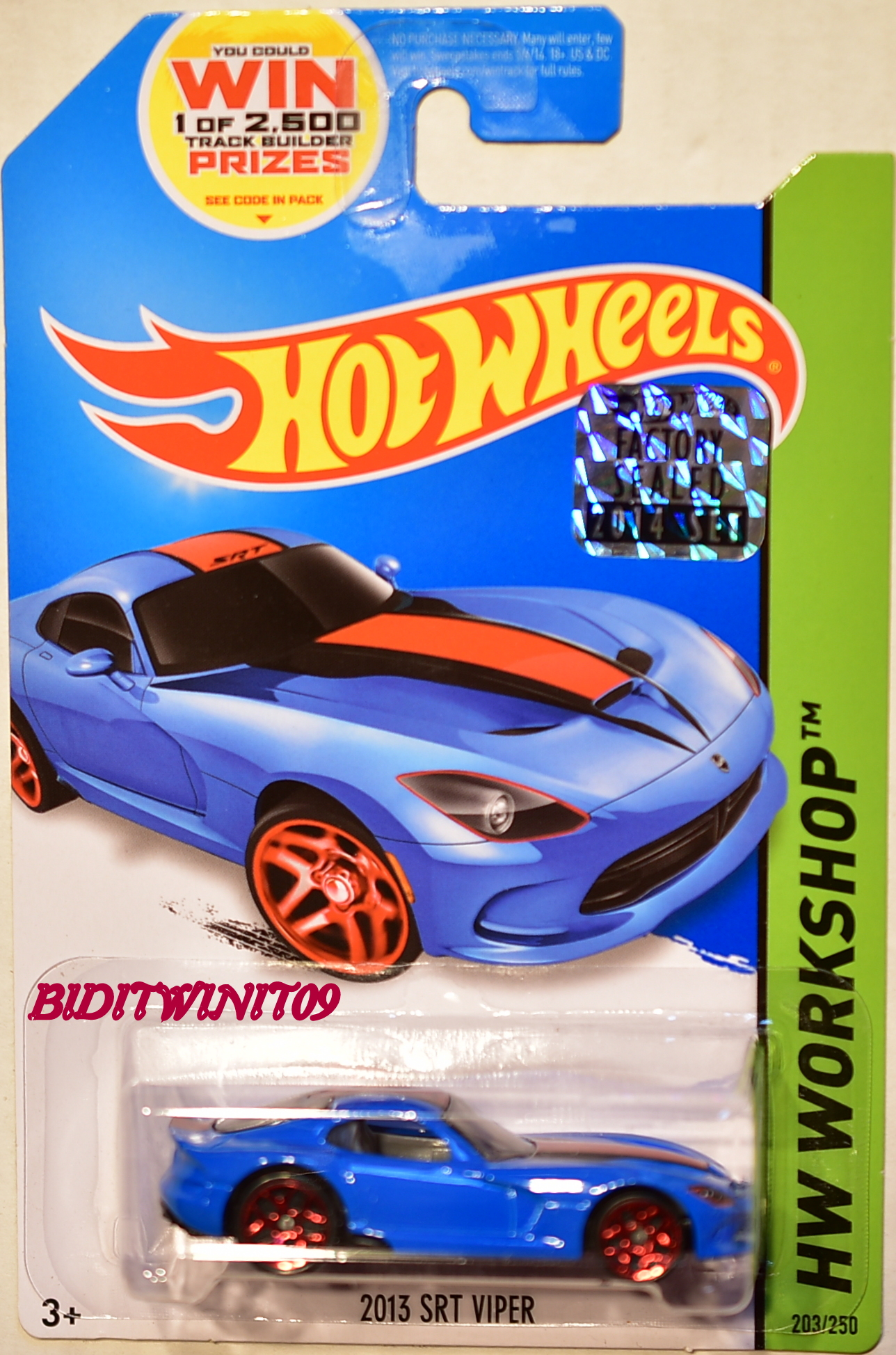 HOT WHEELS 2014 WORKSHOP HW GARAGE 2013 SRT VIPER FACTORY SEALED