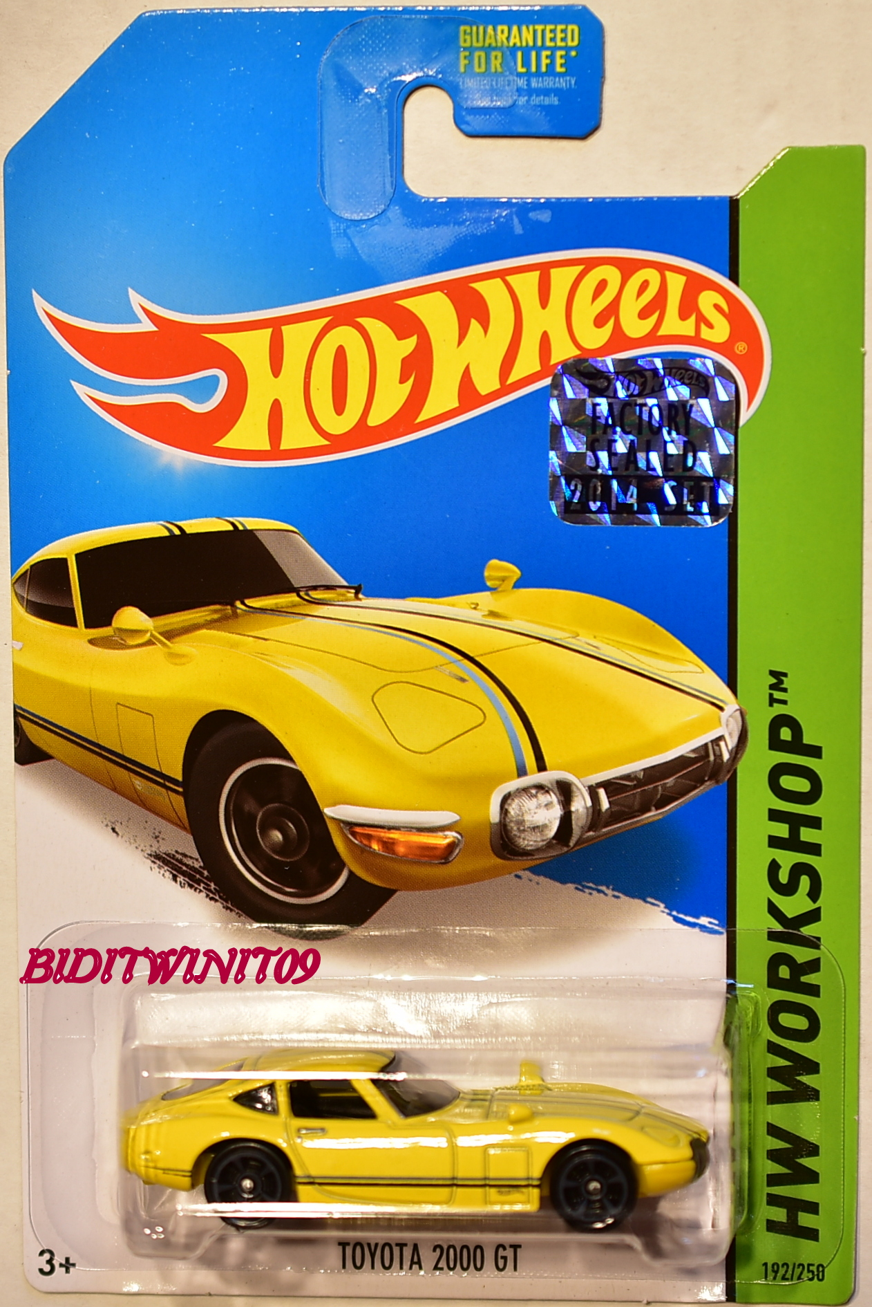 HOT WHEELS 2014 HW WORKSHOP HW ALL STARS TOYOTA 2000 GT YELLOW FACTORY SEALED