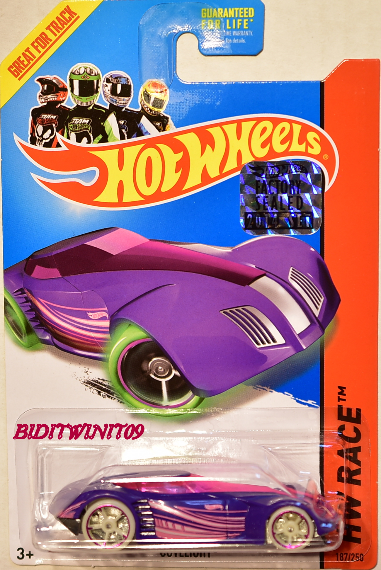 HOT WHEELS 2014 HW RACE COVELIGHT PURPLE FACTORY SEALED