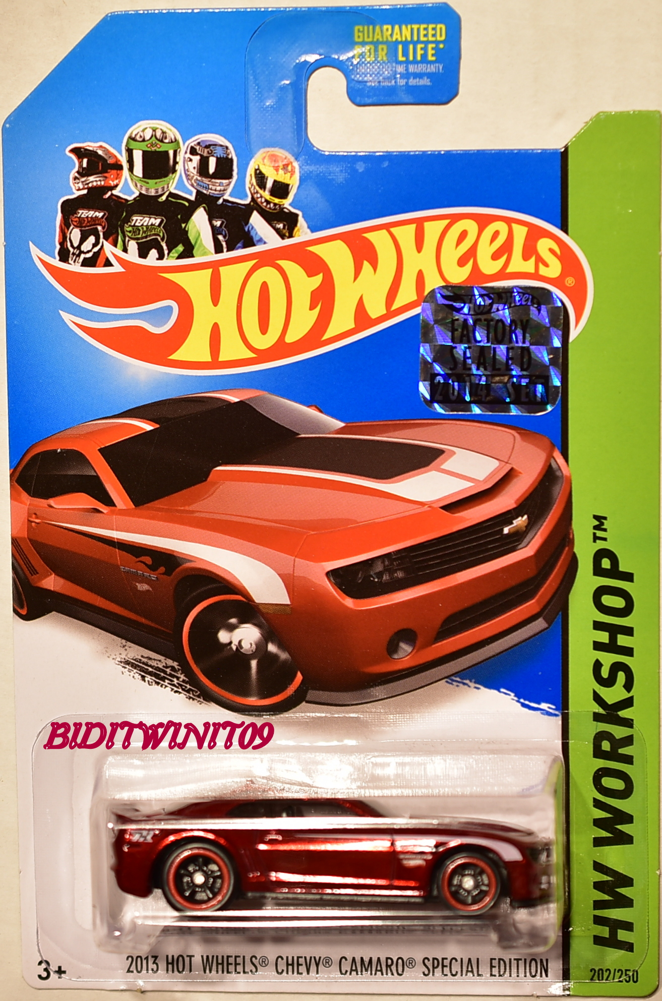 HOT WHEELS 2014 SUPER T-HUNT 2013 HW CHEVY CAMARO SPECIAL EDITION FACTORY SEALED