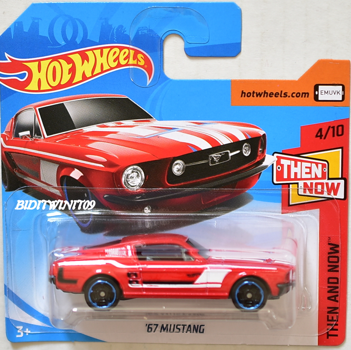 Hot Wheels 2018 Then And Now 67 Mustang Red Short Card
