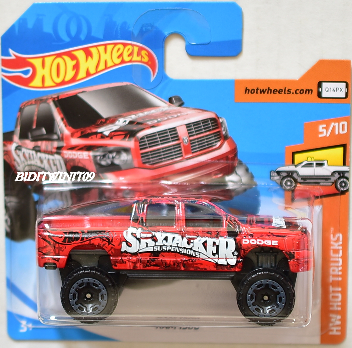 HOT WHEELS 2018 HW HOT TRUCKS RAM 1500 SKYJACKER #5/10 SHORT CARD