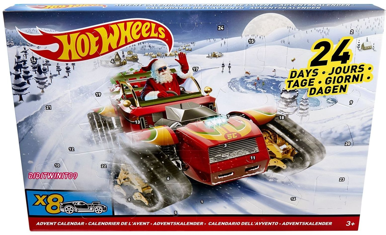 HOT WHEELS ADVENT COUNTDOWN CALENDAR 2018 CARS & ACCESSORIES INCLUDED
