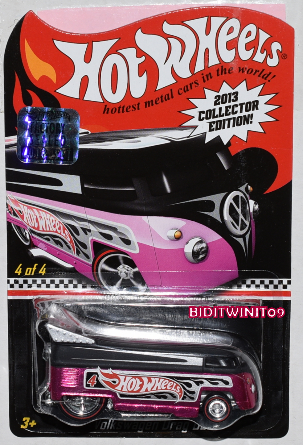 HOT WHEELS 2013 TOYS R US MAILED IN VOLKSWAGEN DRAG BUS FACTORY SEALED