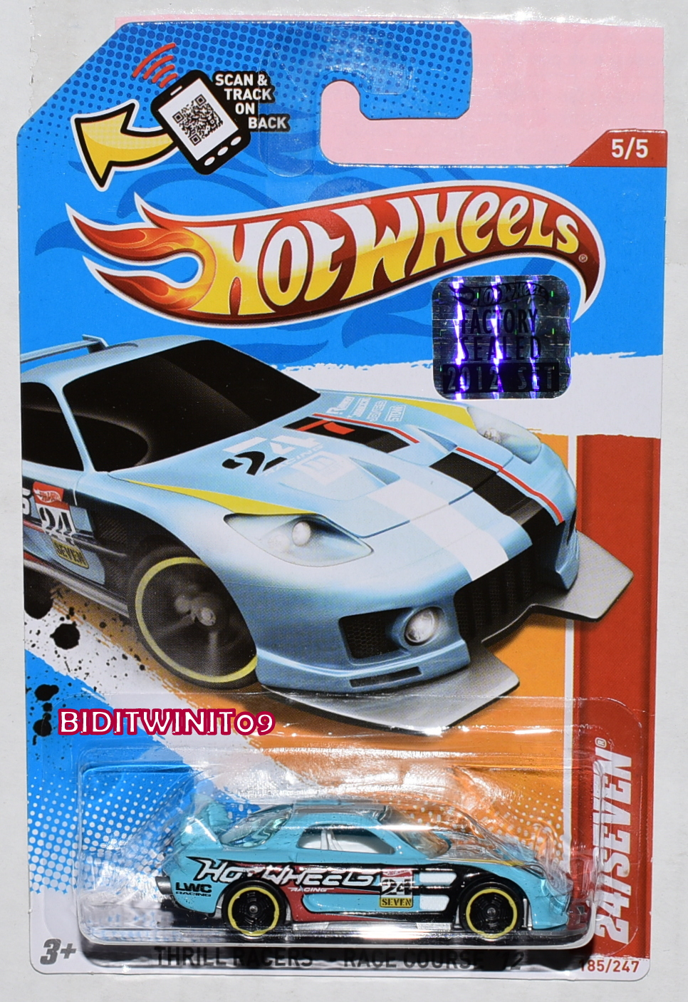 HOT WHEELS 2012 THRILL RACERS 24/SEVEN FACTORY SEALED