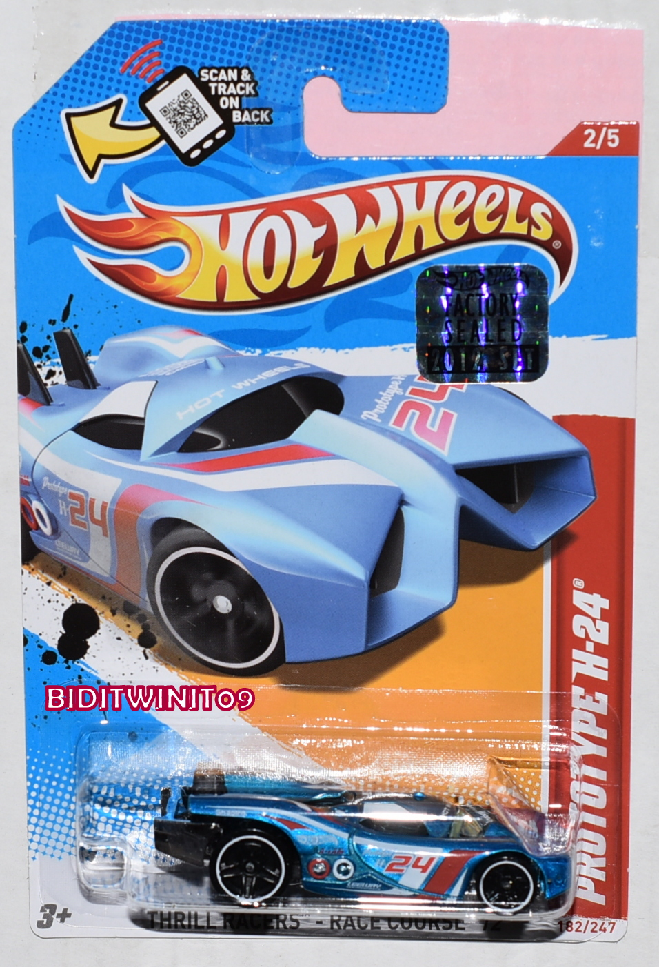 HOT WHEELS 2012 THRILL PROTOTYPE H-24 FACTORY SEALED