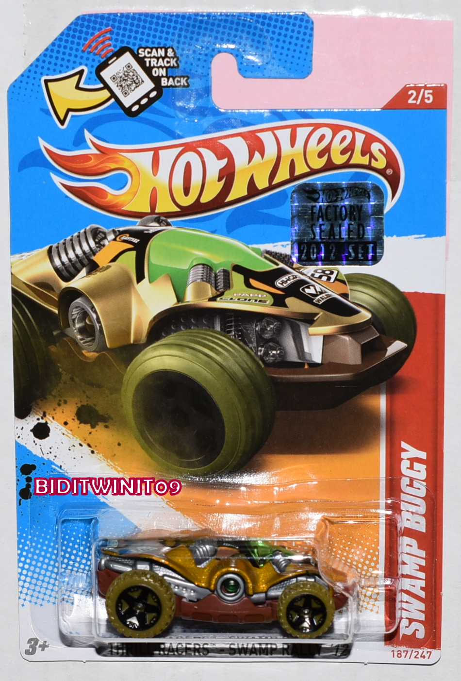 HOT WHEELS 2012 THRILL RACERS SWAMP BUGGY FACTORY SEALED