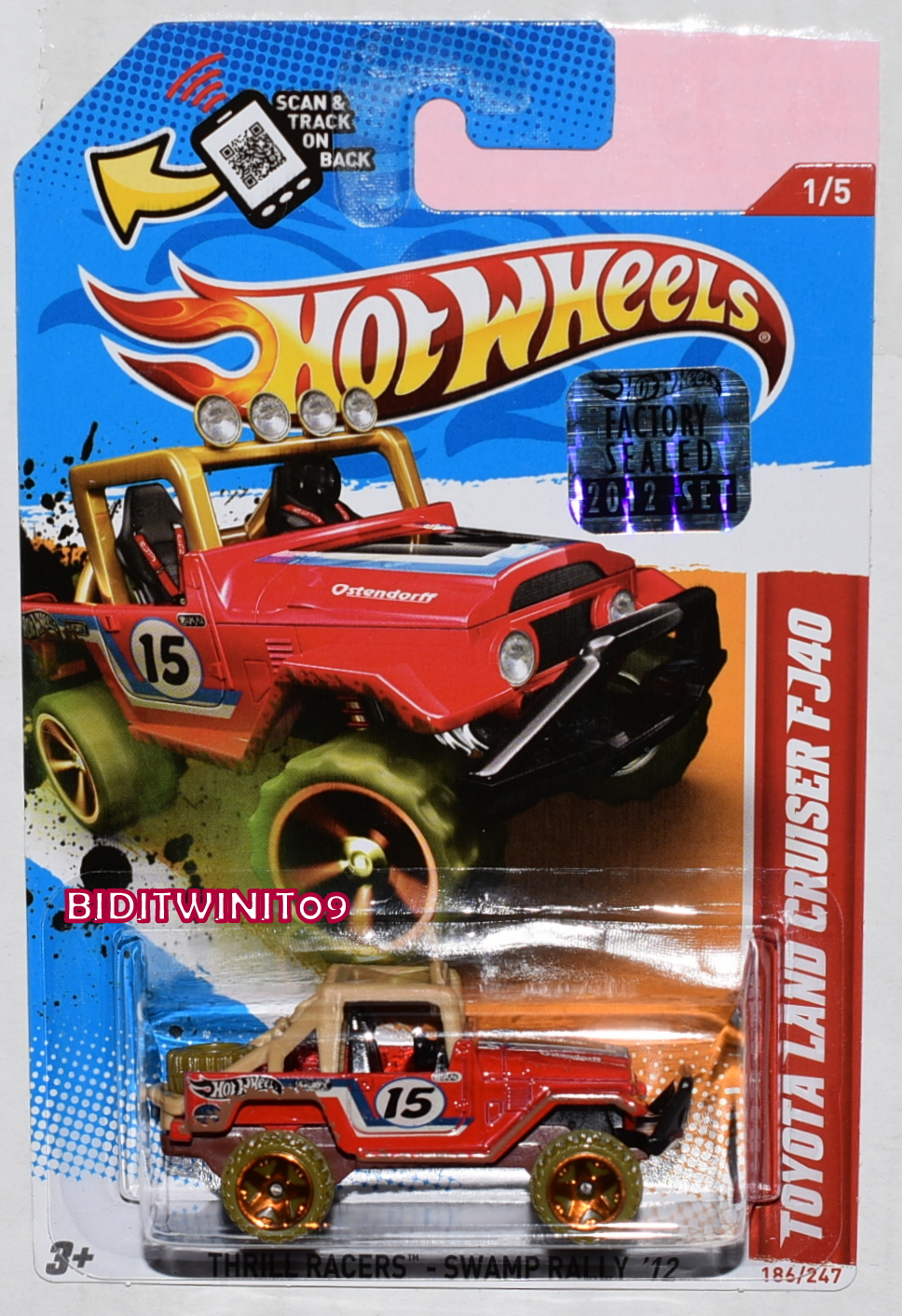 HOT WHEELS 2012 THRILL RACERS TOYOTA LAND CRUISER FJ40 RED FACTORY SEALED