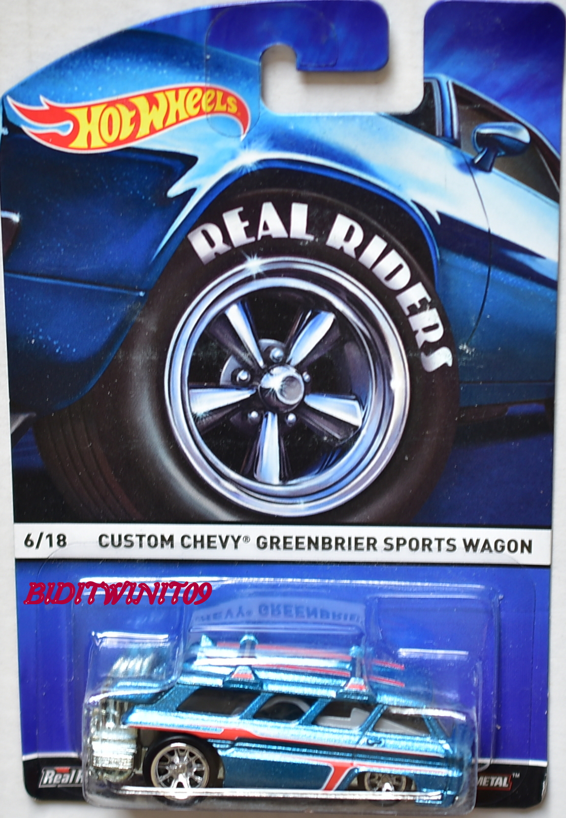HOT WHEELS 2015 REAL RIDERS CUSTOM CHEVY GREENBRIER SPORTS WAGON #6/18
