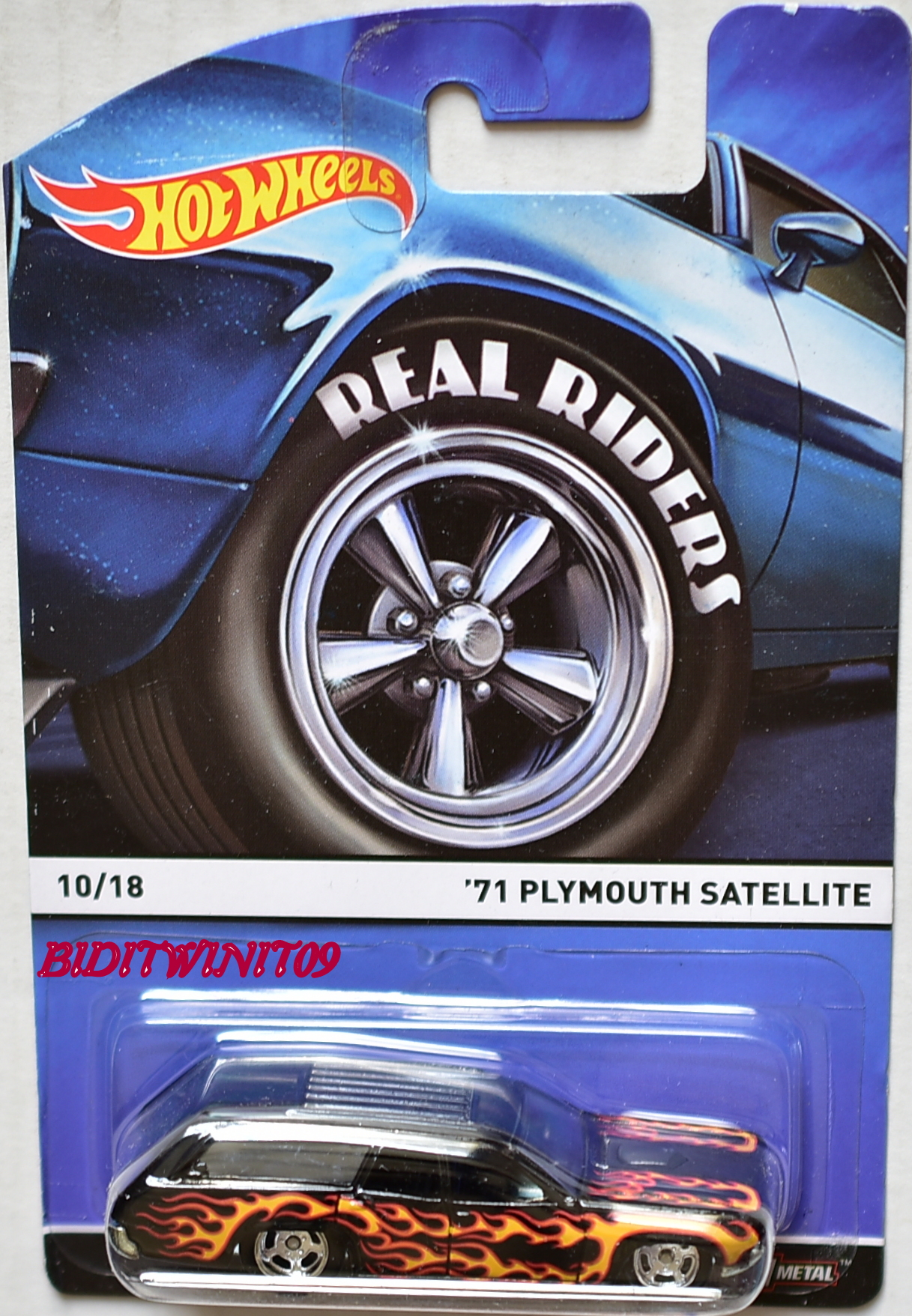 HOT WHEELS 2015 REAL RIDERS #10/18 '71 PLYMOUTH SATELLITE