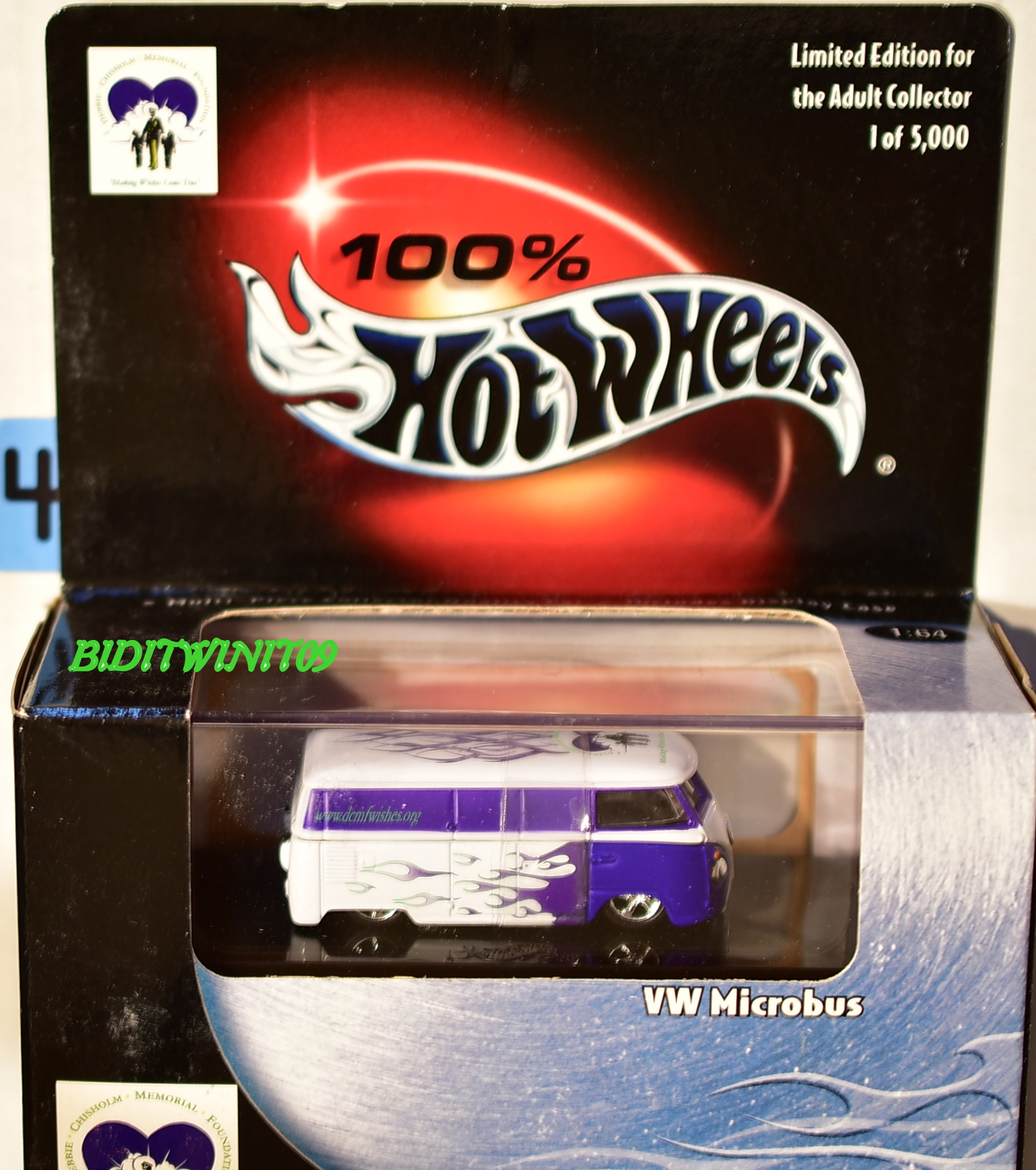HOT WHEELS 100% BLACK BOX LIMITED EDITION VW MICROBUS PURPLE TAMPO