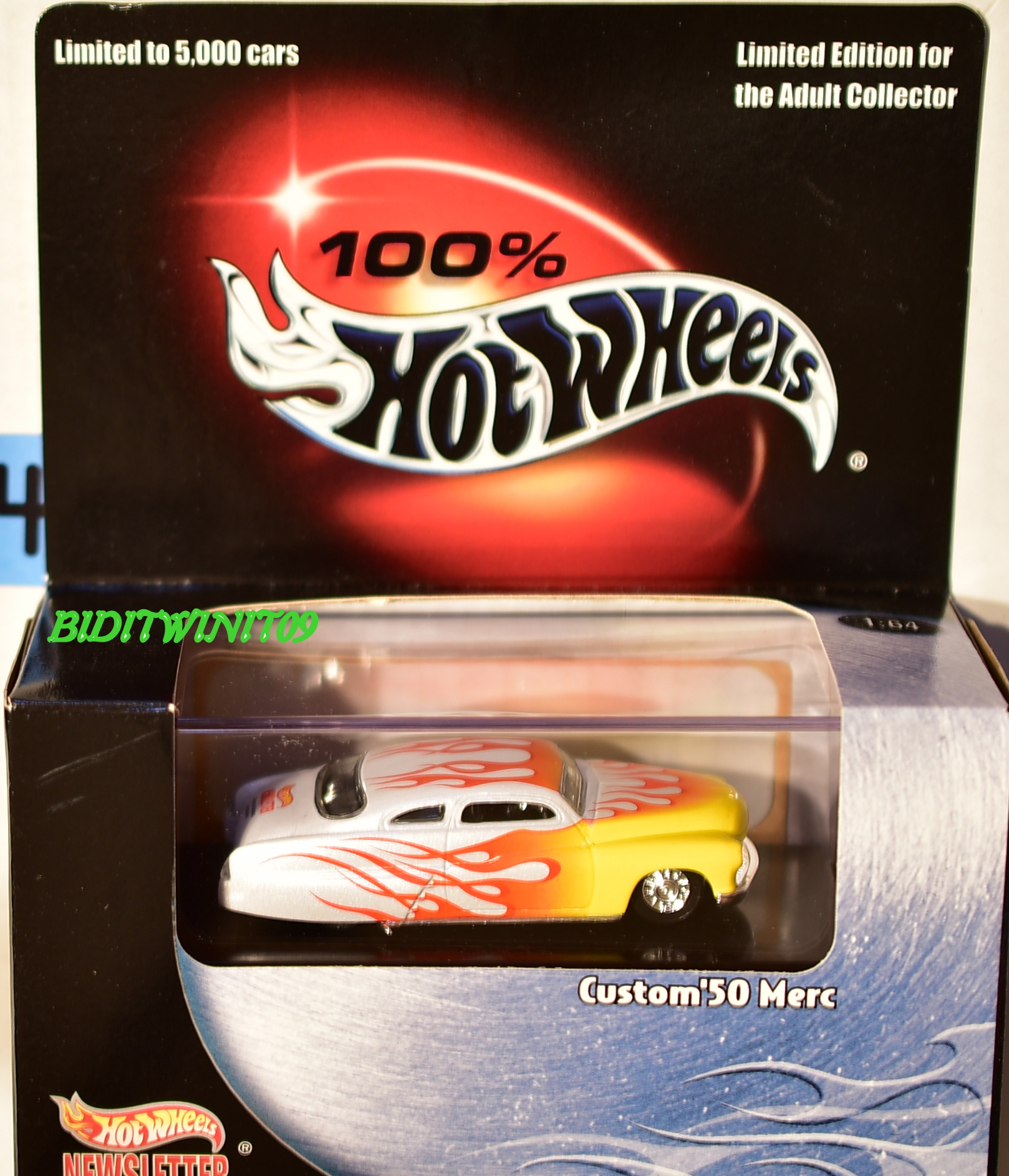 HOT WHEELS 100% BLACK BOX CUSTOM '50 MERC LIMITED EDITION E+