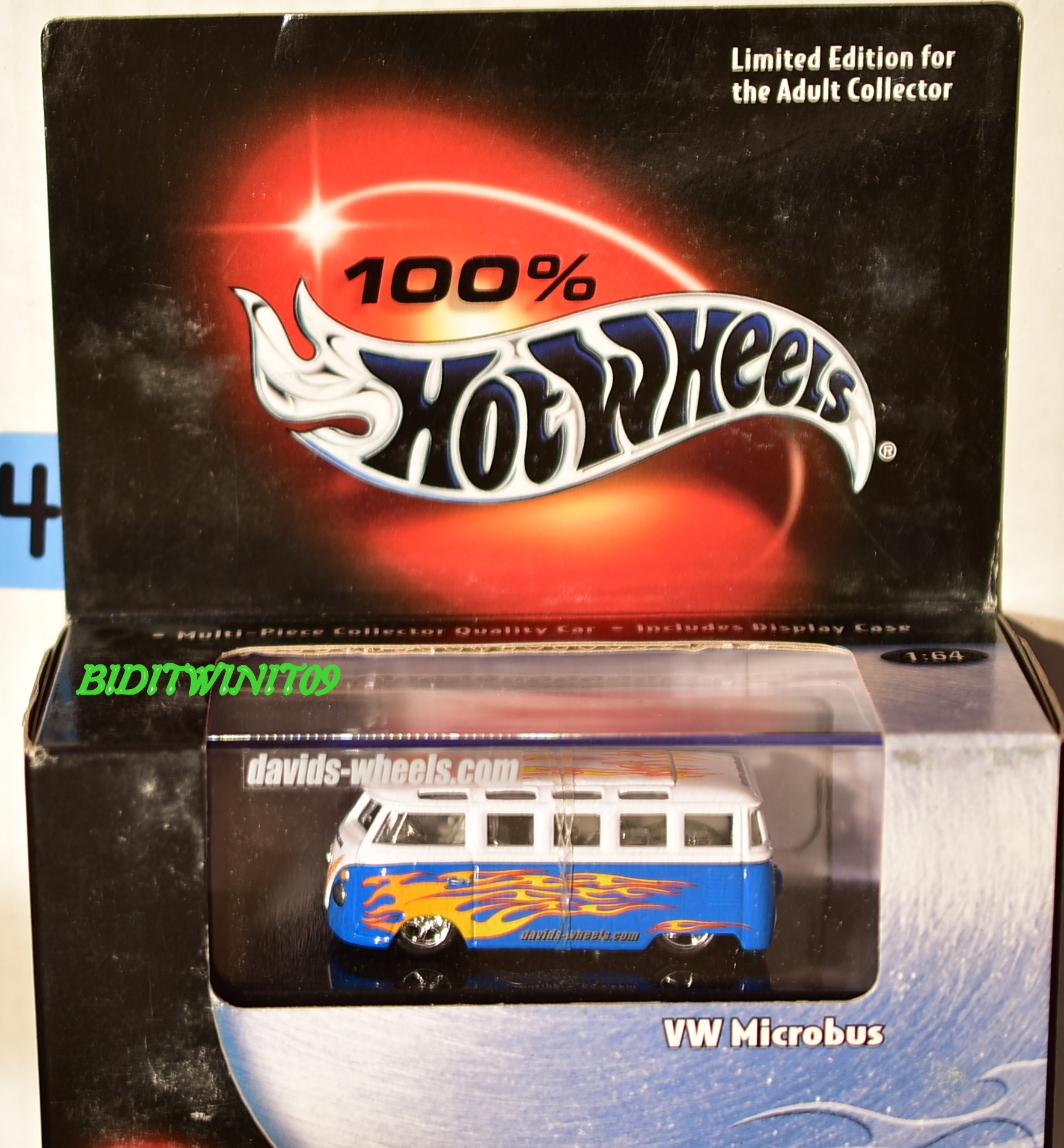 HOT WHEELS 100% BLACK BOX LIMITED EDITION VW MICROBUS BLUE & WHITE