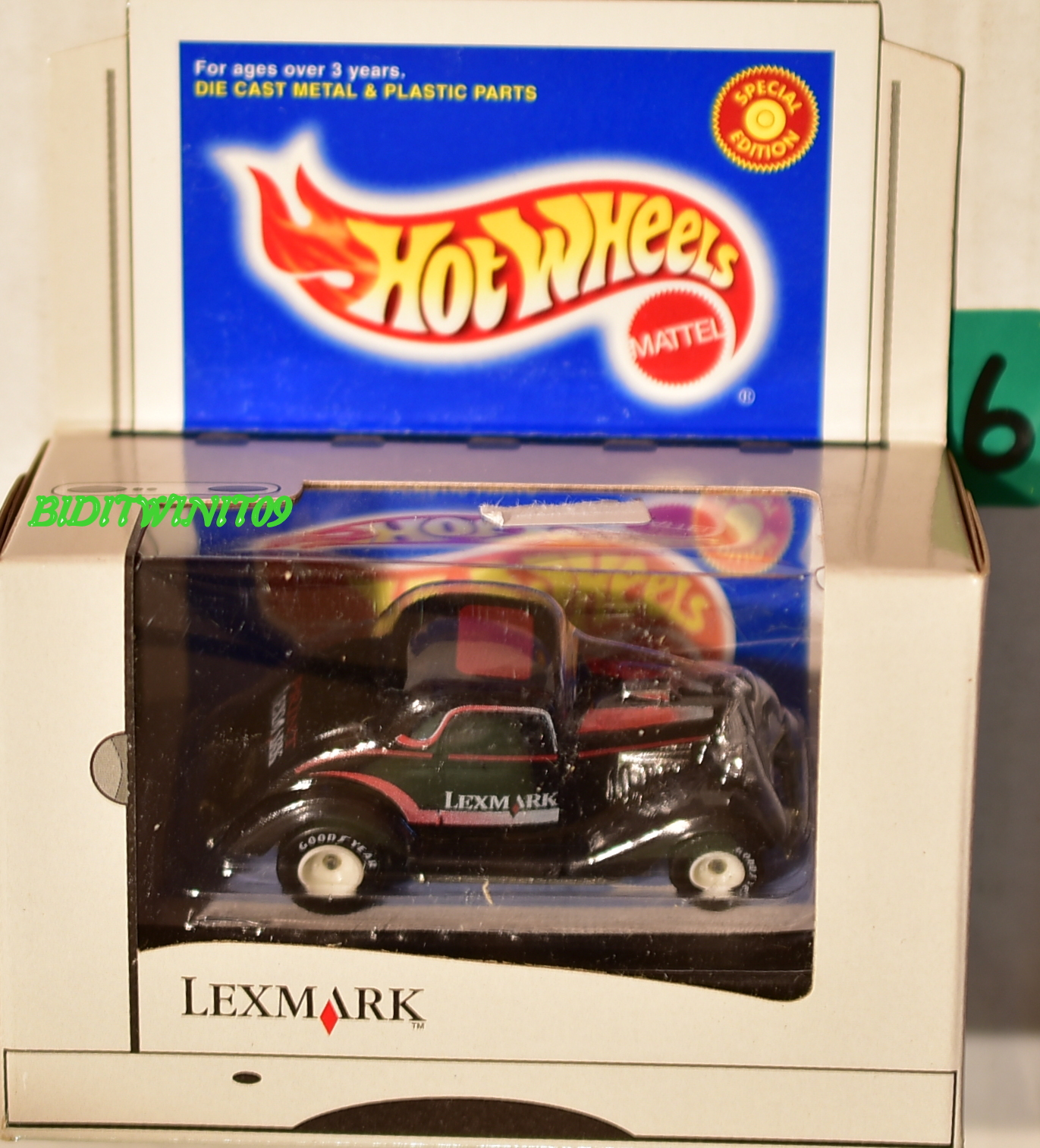 HOT WHEELS LEXMARK EXCLUSIVE 3 WINDOW 20814 LIMITED EDITION E+