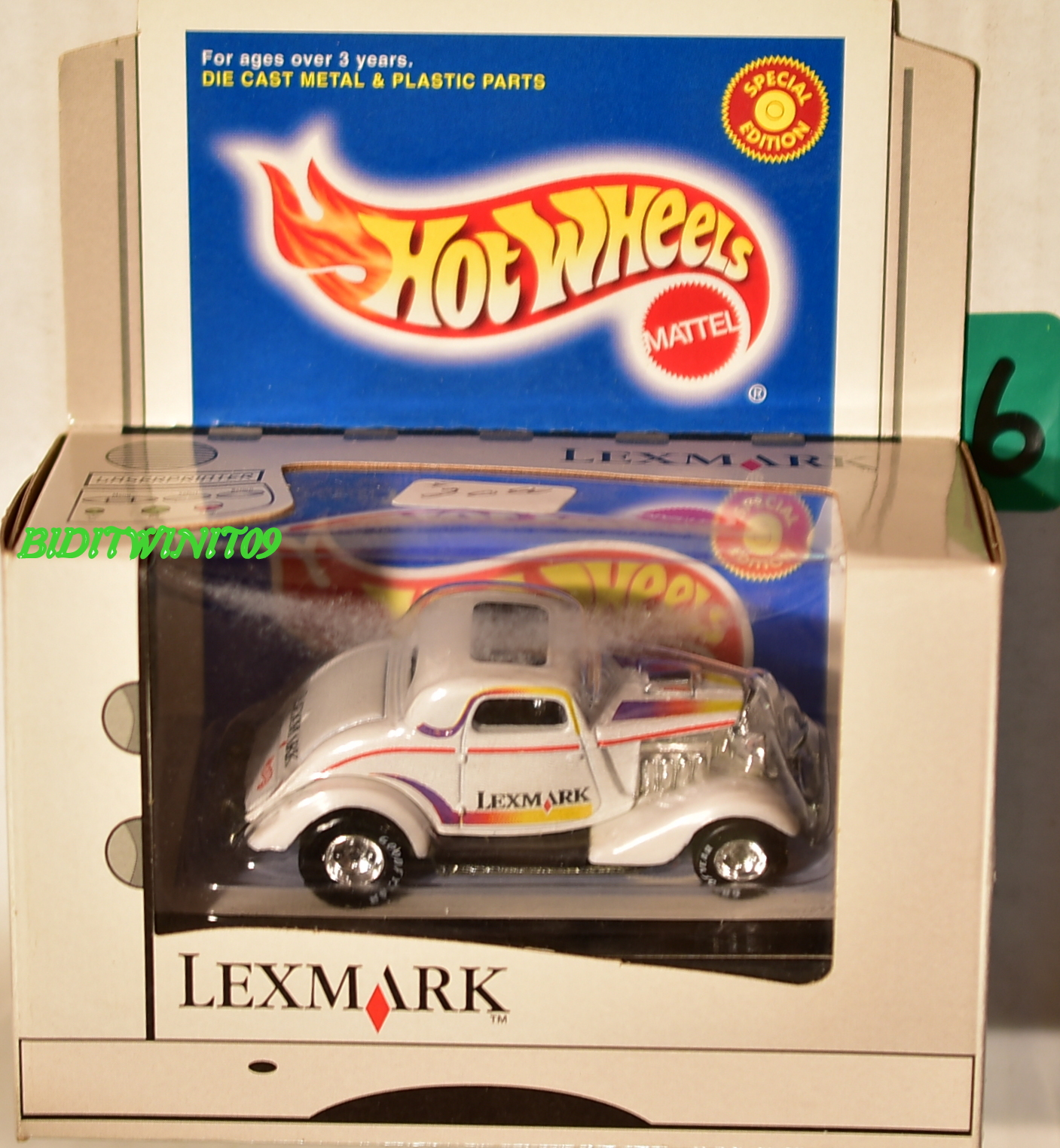 HOT WHEELS LEXMARK EXCLUSIVE 3-WINDOW COUPE 23539 LIMITED EDITION E+