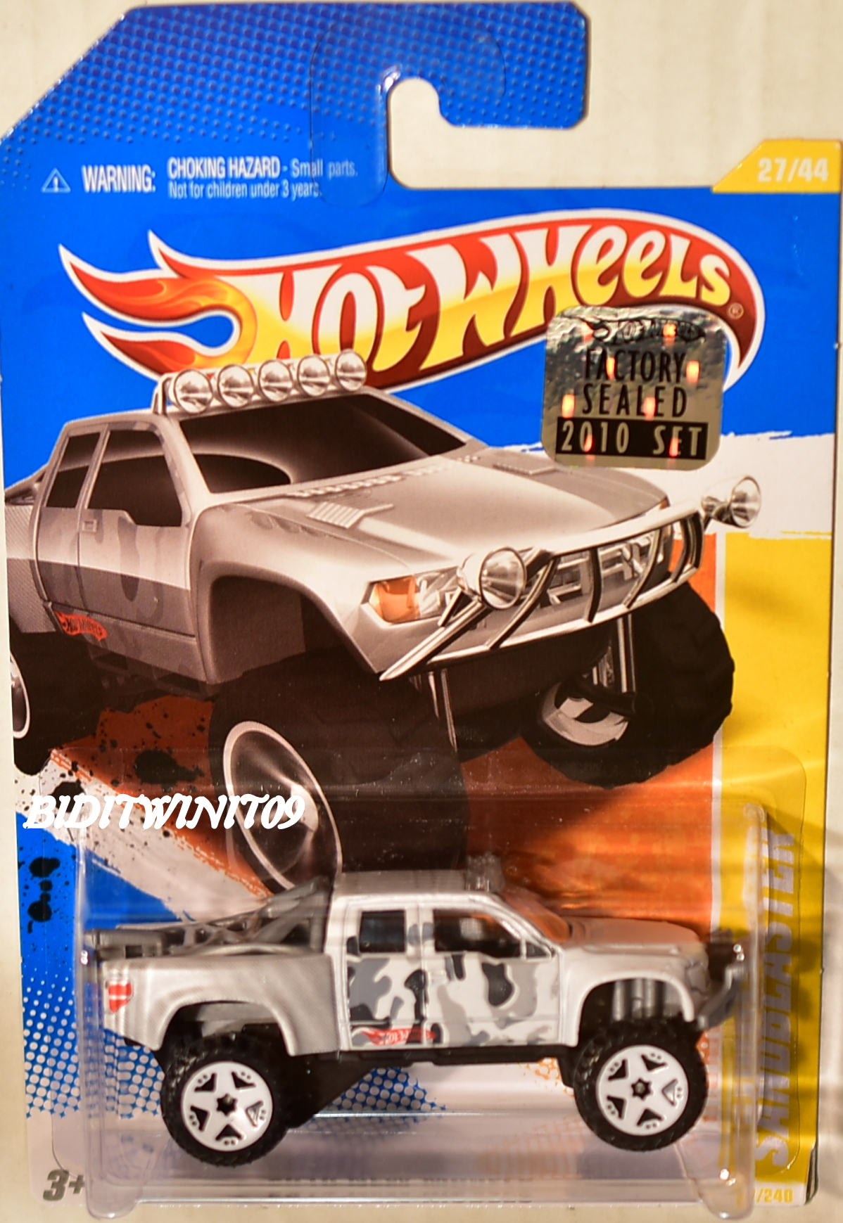 HOT WHEELS 2010 NEW MODELS SANDBLASTER WHITE FACTORY SEALED E+