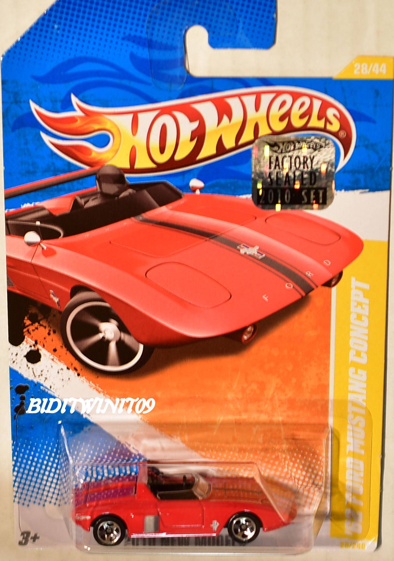 HOT WHEELS 2010 NEW MODELS '62 FORD MUSTANG CONCEPT RED FACTORY SEALED E+