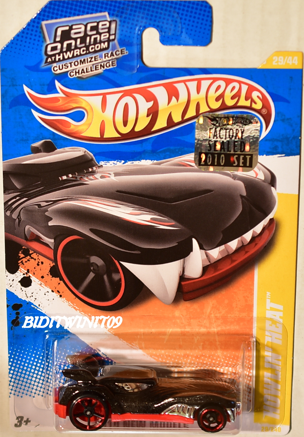 HOT WHEELS 2010 NEW MODELS HOWLIN' HEAT BLACK FACTORY SEALED E+