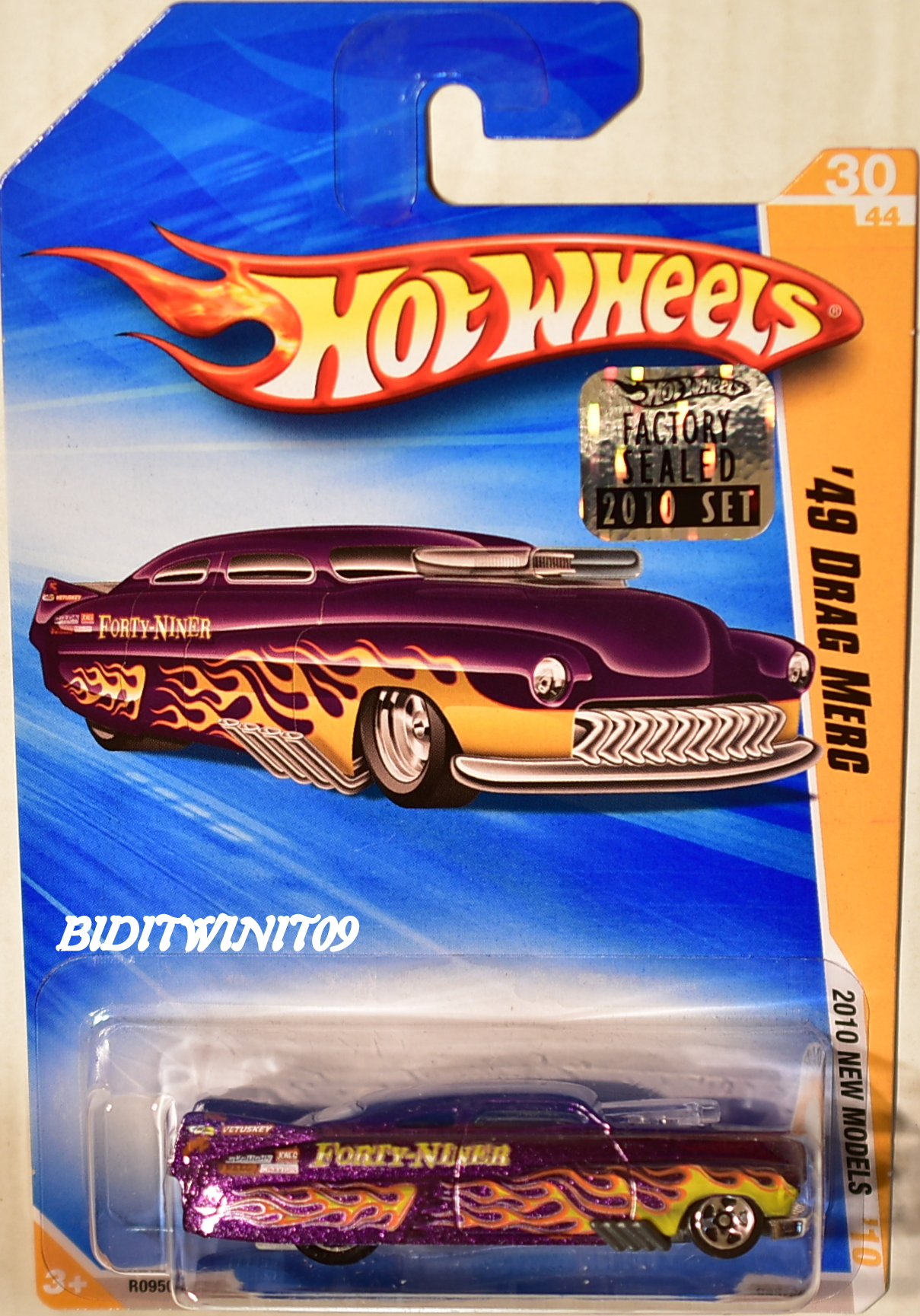 HOT WHEELS 2010 NEW MODELS '49 DRAG MERC PURPLE FACTORY SEALED E+