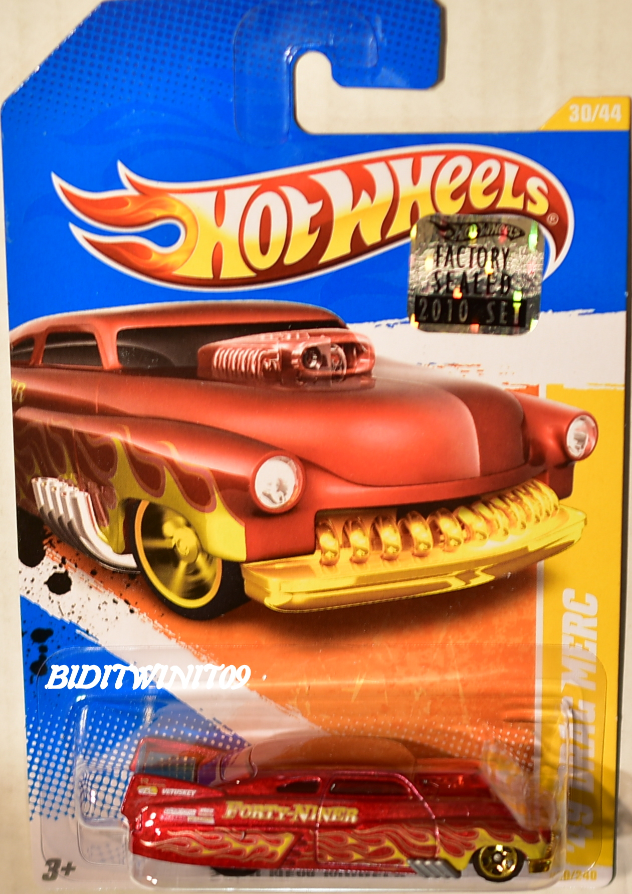 HOT WHEELS 2010 NEW MODELS '49 DRAG MERC RED FACTORY SEALED E+