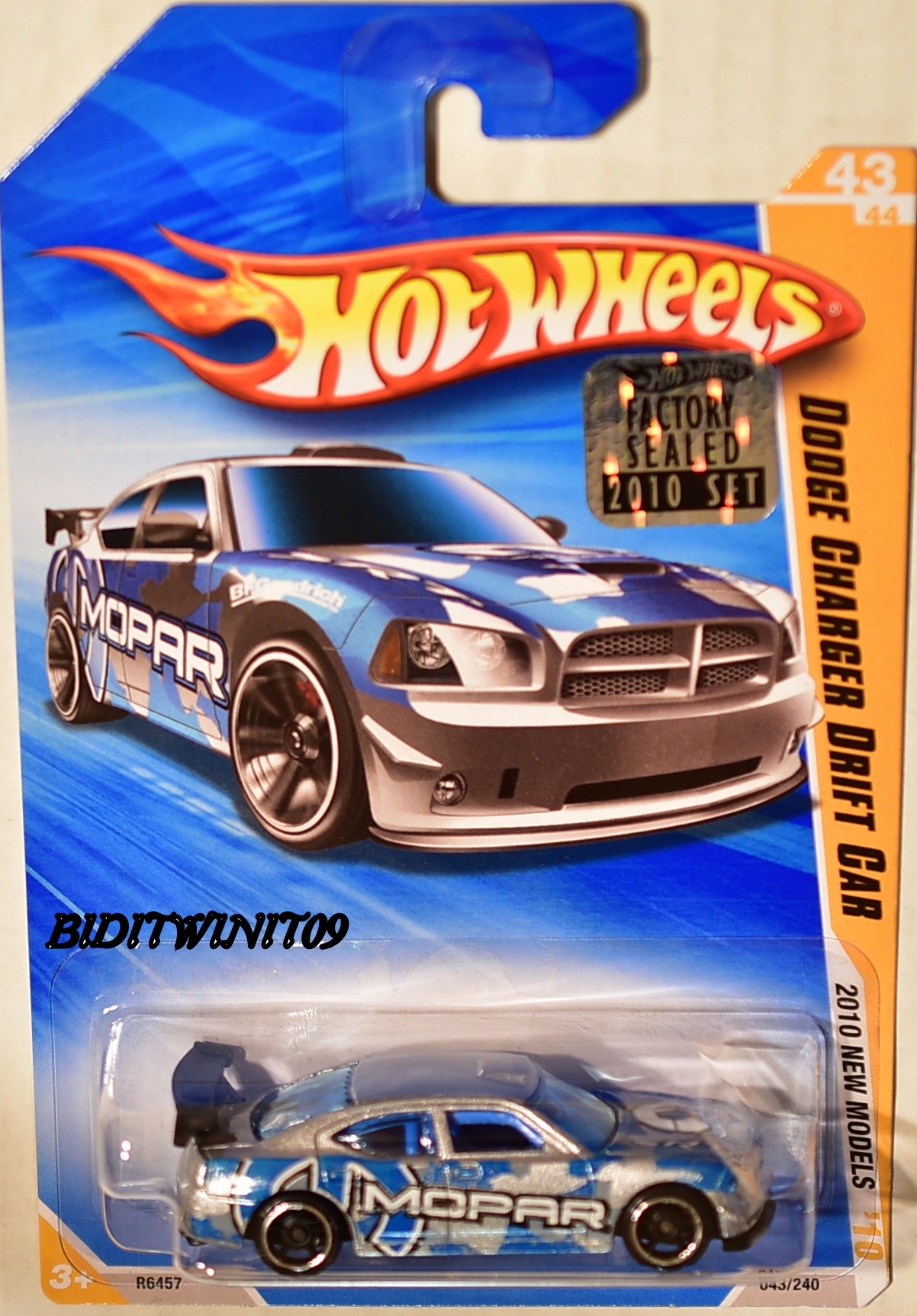 HOT WHEELS 2010 NEW MODELS DODGE CHARGER DRIFT CAR #43/44 FACTORY SEALED E+
