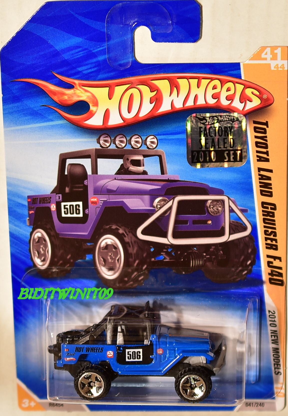 HOT WHEELS 2010 NEW MODELS TOYOTA LAND CRUISER FJ40 BLUE FACTORY SEALED E+