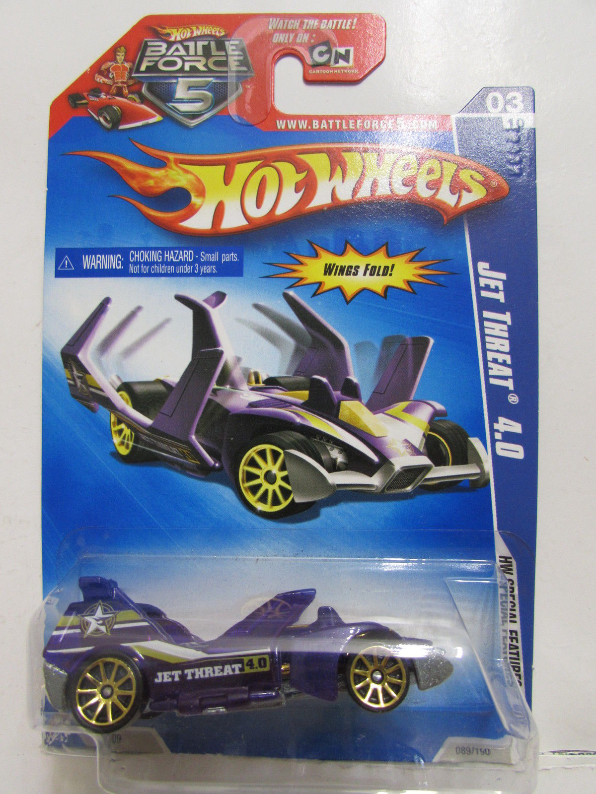 HOT WHEELS 2009 HW SPECIAL FEATURES JET THREAT 4.0 PURPLE