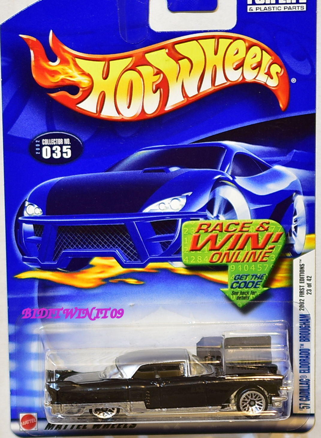 HOT WHEELS 2002 FIRST EDITIONS '57 CADILLAC ELDORADO BROUGHAM