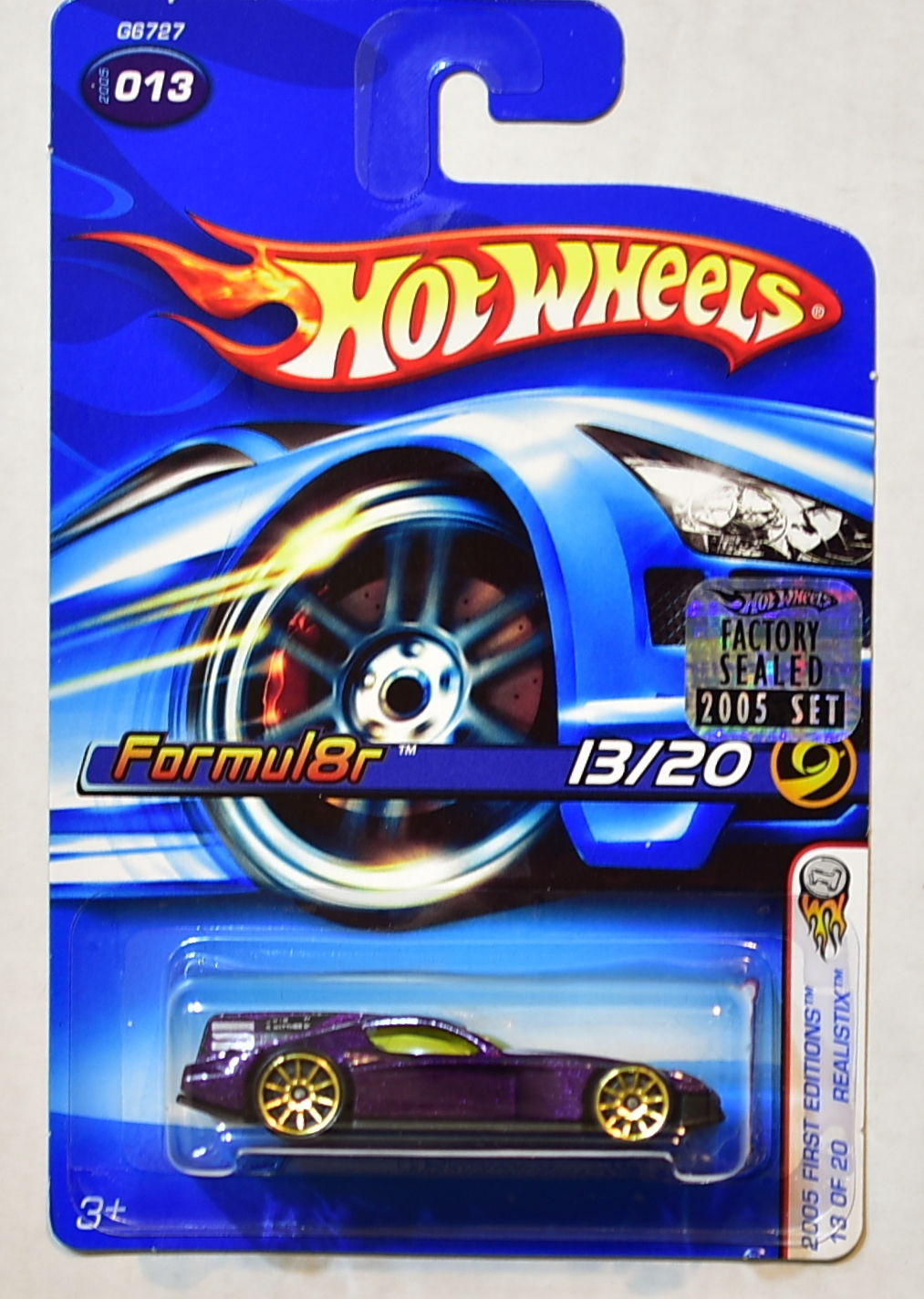 HOT WHEELS 2005 FIRST EDITIONS REALISTIX FORMUL8R 13/20 #013 FACTORY SEALED