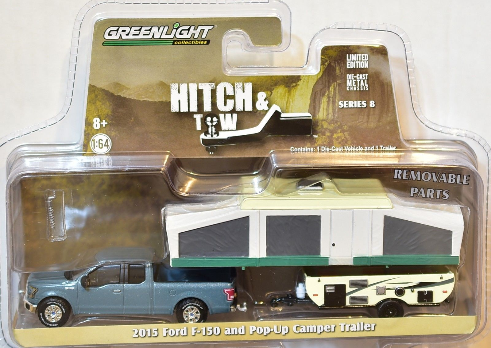 GREENLIGHT HITCH & TOW 2015 FORD F-150 AND POP-UP CAMPER TRAILER