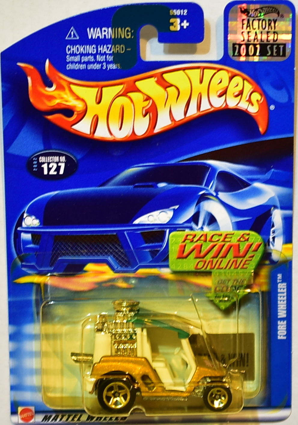 HOT WHEELS 2002 FORE WHEELER #127 FACTORY SEALED