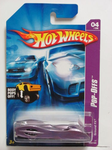 HOT WHEELS 2007 GROUND FX POP-OFFS PURPLE