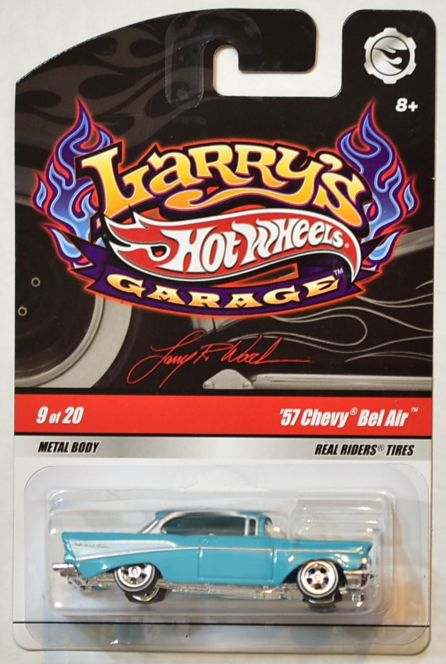 HOT WHEELS LARRY'S GARAGE '57 CHEVY BEL AIR 9 OF 20
