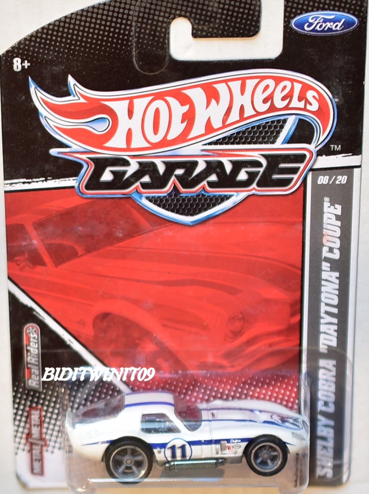 HOT WHEELS GARAGE FORD SHELBY COBRA DAYTONA COUPE #8/20