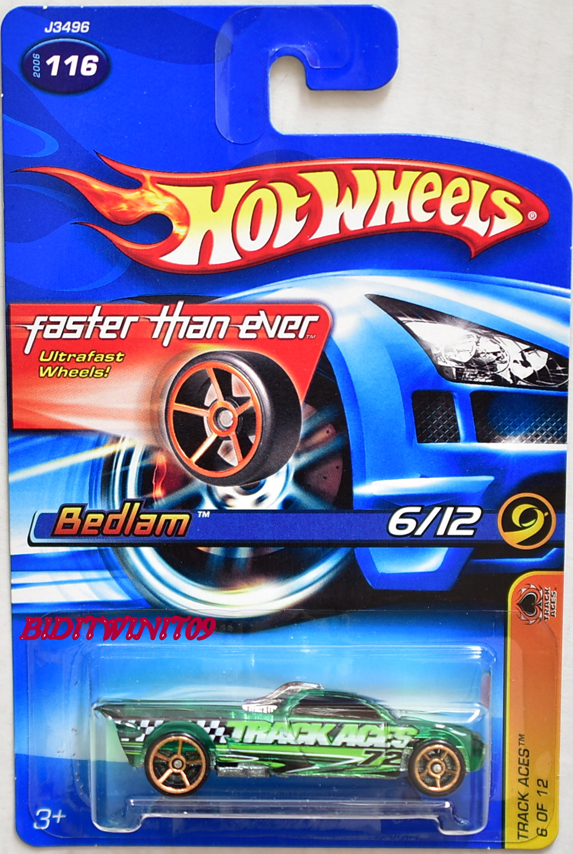 HOT WHEELS 2006 TRACK ACES BEDLAM #116 FTE