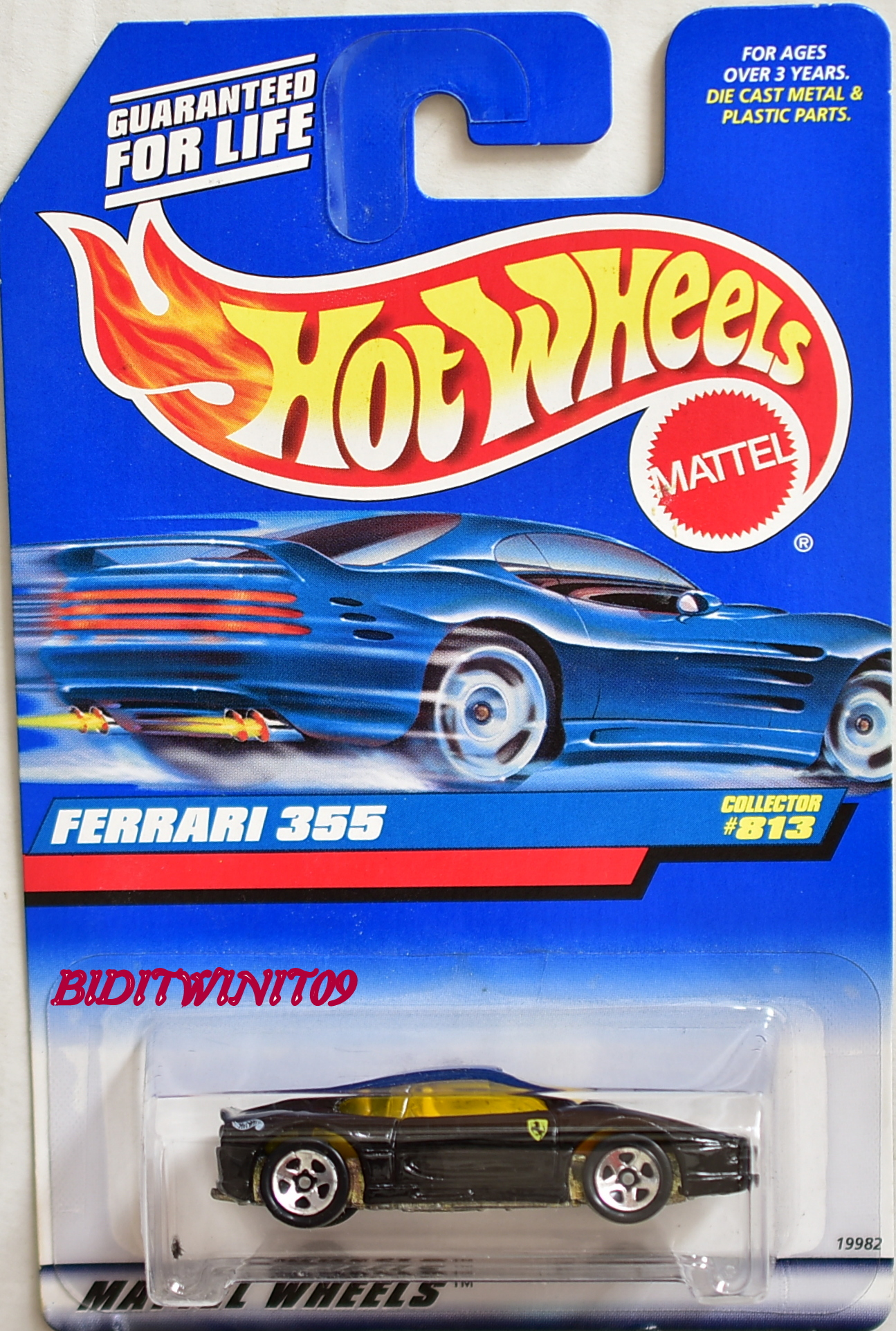 HOT WHEELS 1998 FERRARI 355 #813 BLACK