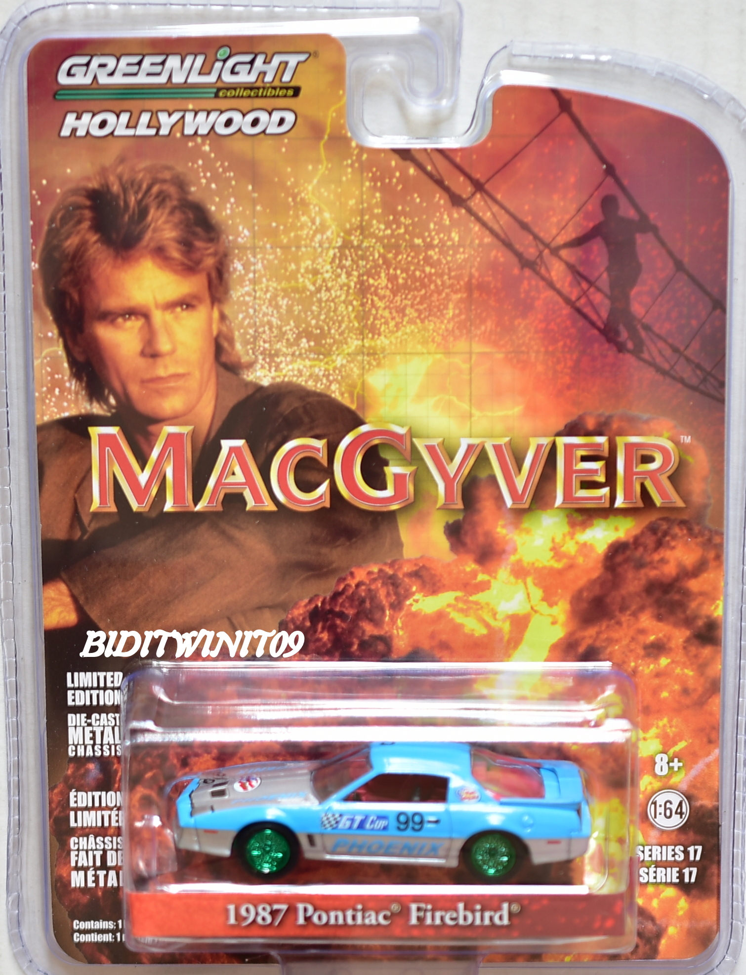 GREENLIGHT 2017 HOLLYWOOD 1987 PONTIAC FIREBIRD MACGYVER GREEN MACHINE