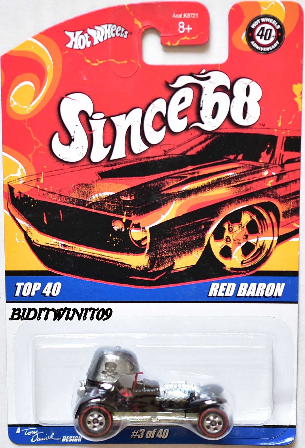 HOT WHEELS SINCE 68 TOP 40 RED BARON #3/40