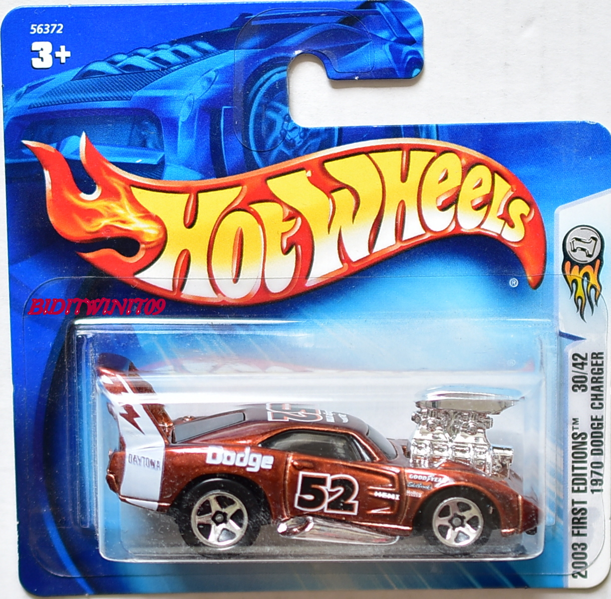 HOT WHEELS 2003 FIRST EDITIONS 1970 DODGE CHARGER #30/42 SHORT CARD E+