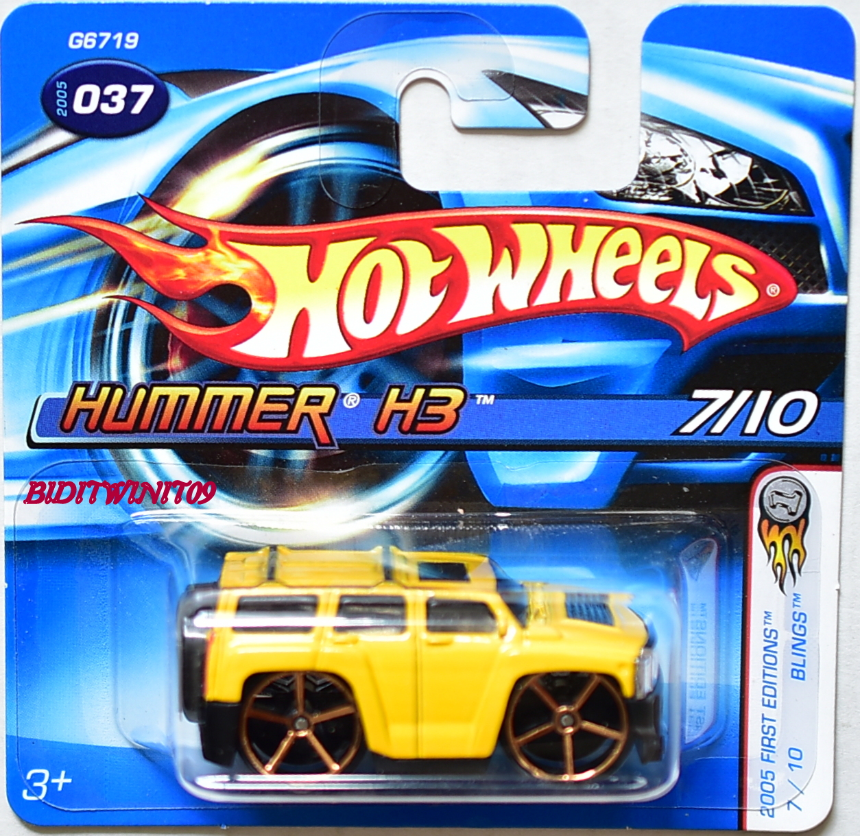 HOT WHEELS 2005 FIRST EDITIONS HUMMER H3 SHORTCARD