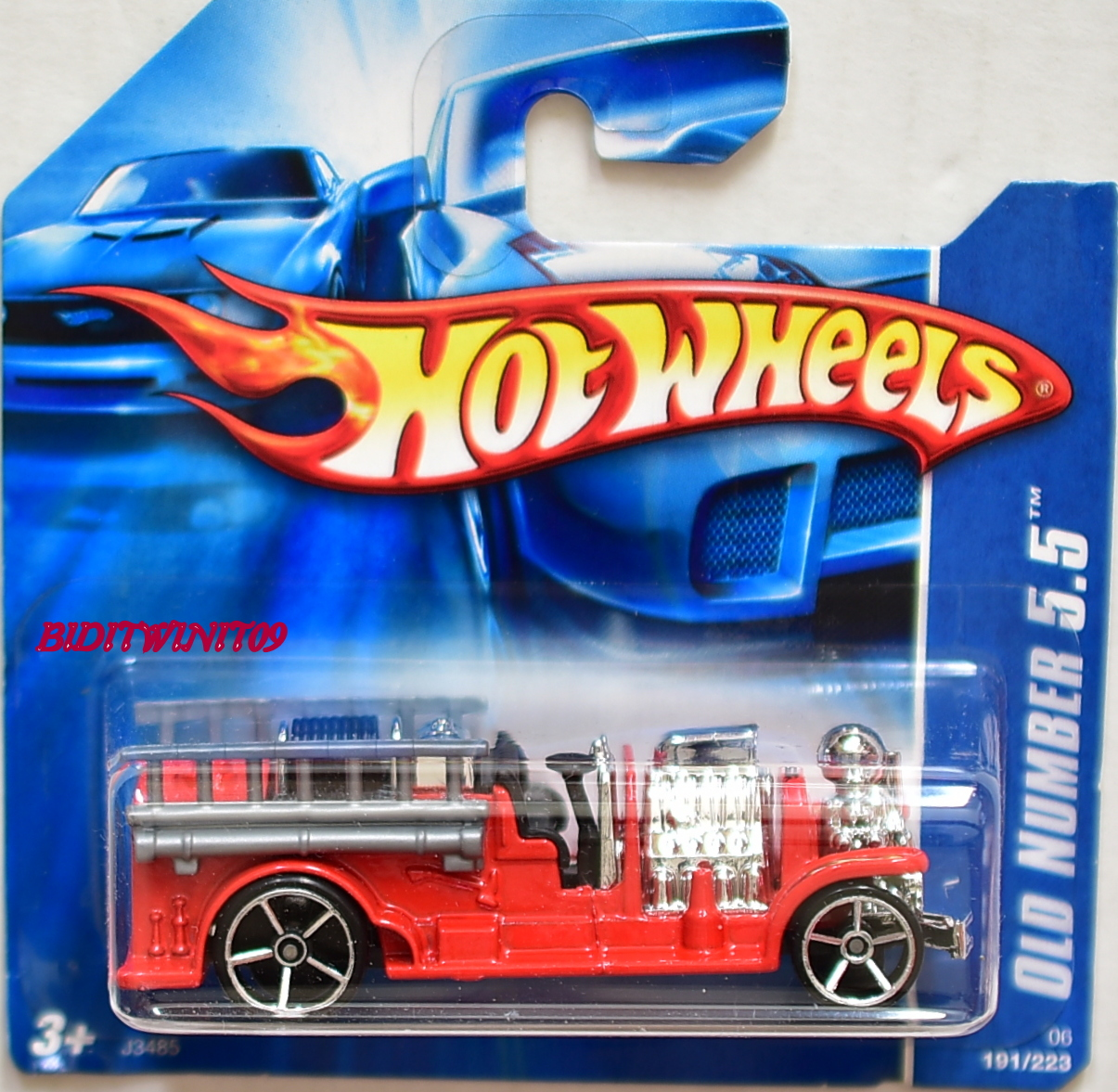 HOT WHEELS 2006 OLD NUMBER 5.5 RED SHORT CARD