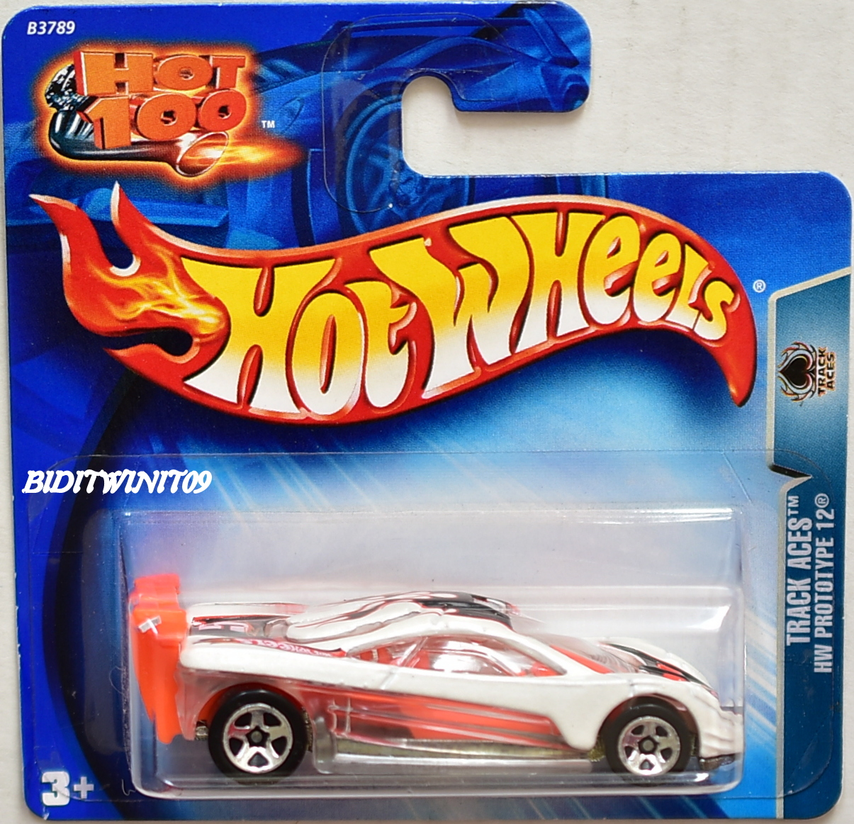 HOT WHEELS 2004 TRACK ACES HW PROTOTYPE 12 SHORT CARD